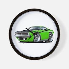 1970 AAR Cuda Lime Car Wall Clock