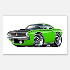 1970 AAR Cuda Lime Car Decal