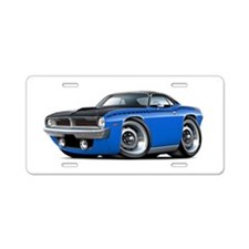 1970 AAR Cuda Blue-Black Car Aluminum License Plat