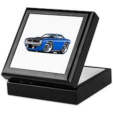 1970 AAR Cuda Blue Car Keepsake Box