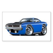 1970 AAR Cuda Blue Car Decal