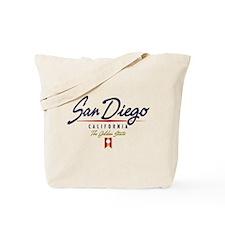 San Diego Script Tote Bag