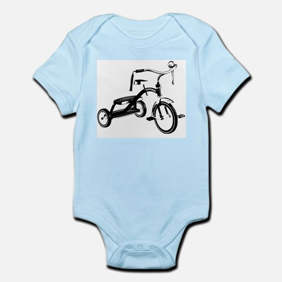 Retro Black Tricycle Body Suit