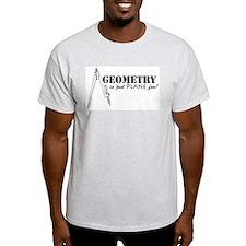 Plane Fun Geometry Ash Grey T-Shirt