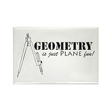 Plane Fun Geometry Rectangle Magnet