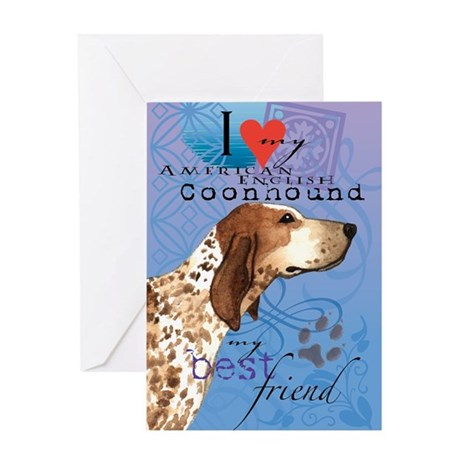 American English Coonhound Greeting Card