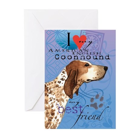 American English Coonhound Greeting Cards (Pk of 1