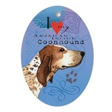 American English Coonhound Ornament (Oval)