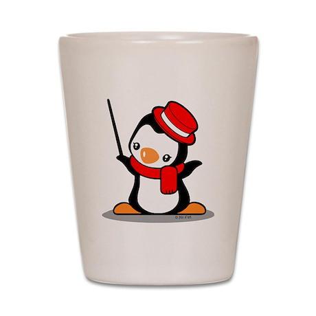 Music Penguin Shot Glass