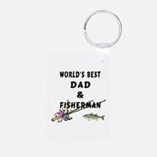 Worlds Best Dad and Fisher Keychains