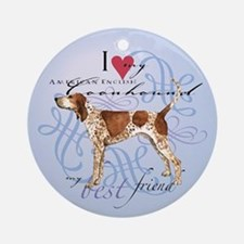 American English Coonhound Ornament (Round)