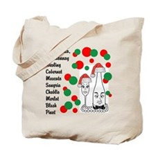 Christmas Wine List Tote Bag