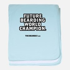 FUTURE BEARD CHAMPION baby blanket