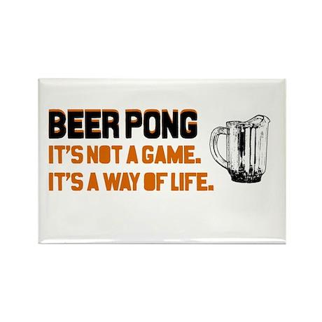 Beer Pong Rectangle Magnet