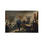 Declaration of Independence Rectangle Magnet (100