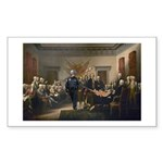 Declaration of Independence Sticker (Rectangle 50