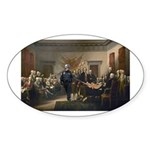 Declaration of Independence Sticker (Oval)