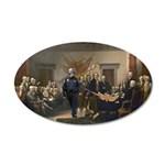 Declaration of Independence 22x14 Oval Wall Peel