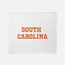 Orange South Carolina Throw Blanket