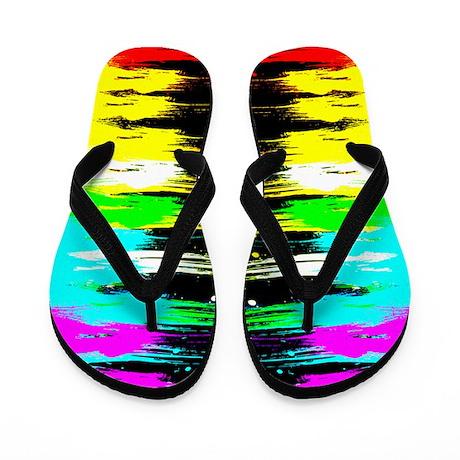 Corey Tiger 80s Paint Drip Flip Flops