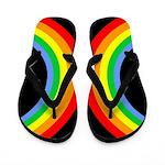 Corey Tiger 80s Rainbow Flip Flops