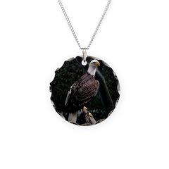 Amazing Eagle Necklace Circle Charm