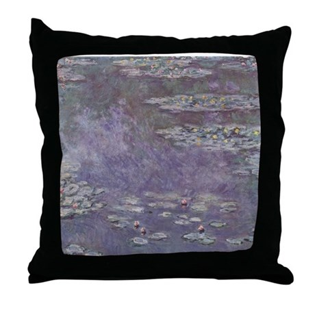Monet Waterlilies Throw Pillow