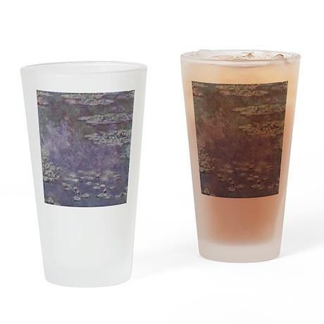 Monet Waterlilies Drinking Glass
