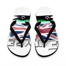 Unique Race flags Flip Flops