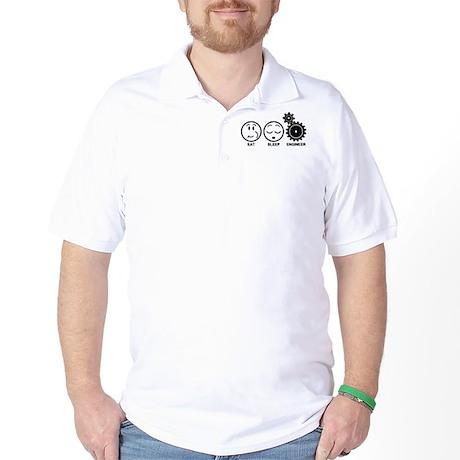 Eat Sleep Engineer Golf Shirt