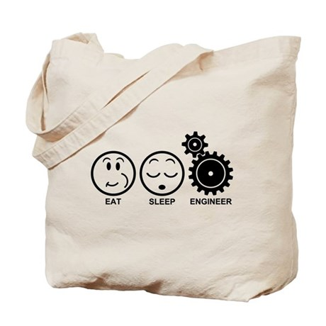 Eat Sleep Engineer Tote Bag