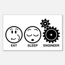 Eat Sleep Engineer Decal