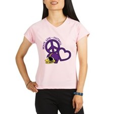 Peace, Love, Football Performance Dry T-Shirt