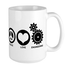 Peace Love Engineering Mug