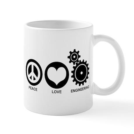 Peace Love Engineering Mug
