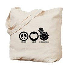 Peace Love Engineering Tote Bag