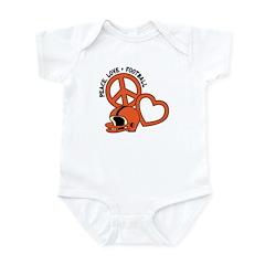 Peace, Love, Football Infant Bodysuit