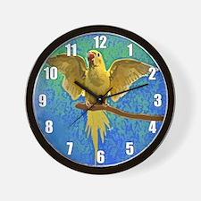 Lutino Ringneck Art Wall Clock