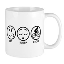 Eat Sleep Cycle (Female) Small Mug
