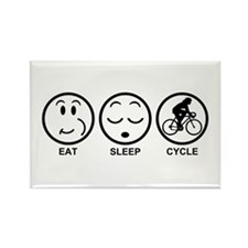 Eat Sleep Cycle (Female) Rectangle Magnet