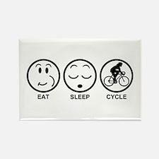 Eat Sleep Cycle (Female) Rectangle Magnet