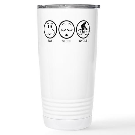 Eat Sleep Cycle (Male) Stainless Steel Travel Mug
