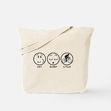 Eat Sleep Cycle (Male) Tote Bag
