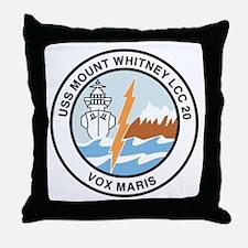 USS Mount Whitney LCC 20 Throw Pillow