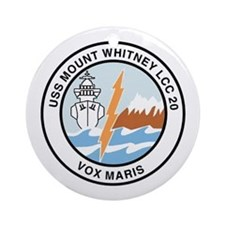 USS Mount Whitney LCC 20 Ornament (Round)
