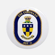 USS Coronado AGF 11 Ornament (Round)