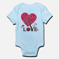Love Grows Heart Tree Infant Bodysuit