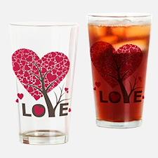 Love Grows Heart Tree Drinking Glass