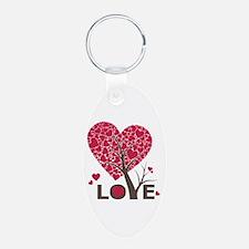 Love Grows Heart Tree Keychains