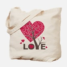 Love Grows Heart Tree Tote Bag